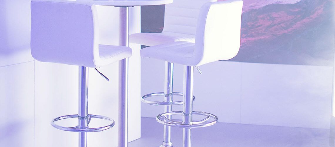 White Bar Furniture so guests can mingle and put down drinks - http://furniture4events.com/furniture/bar-furniture/
