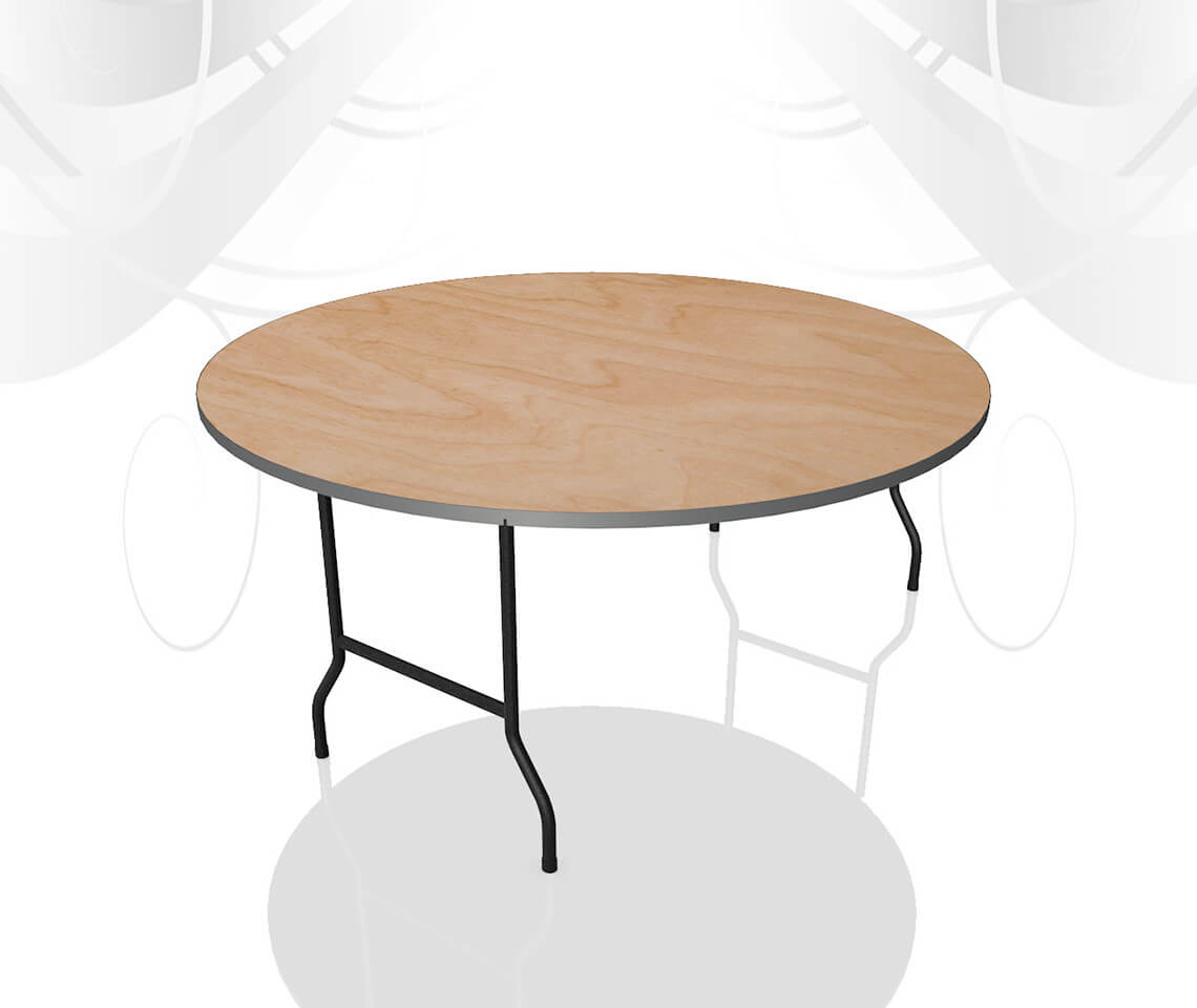 5ft round dining table furniture4events Round dinner table for 10