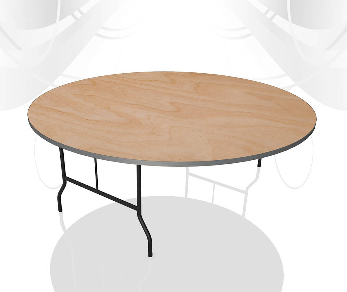 6ft round dining table furniture4events. Black Bedroom Furniture Sets. Home Design Ideas