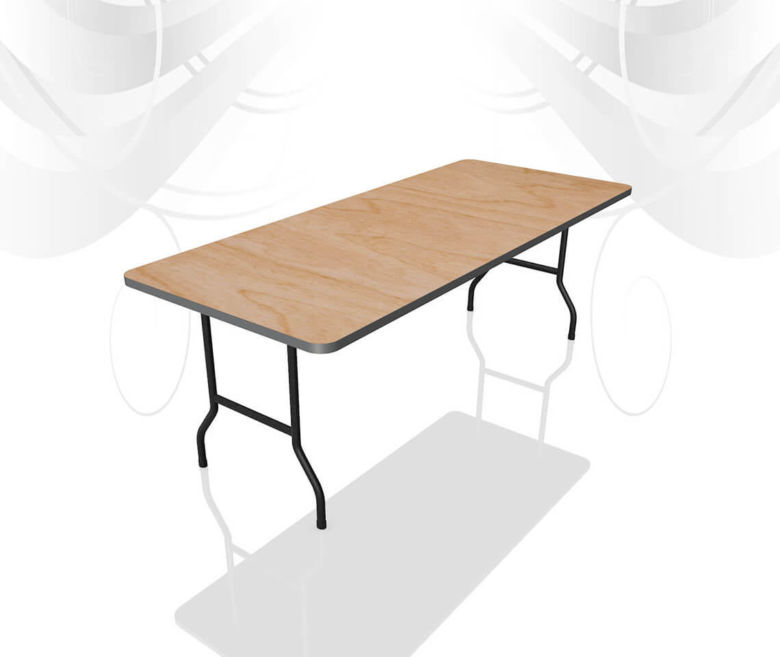 6ft x 2ft 6in high leg catering table furniture4events for 10ft dining table