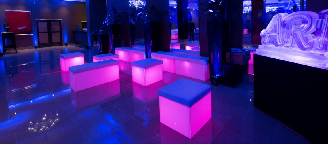 LEd cube seating