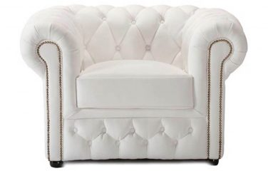 White Chesterfield Armchair