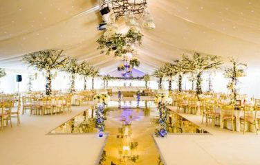 Gold Mirror Walkway & Dance Floor