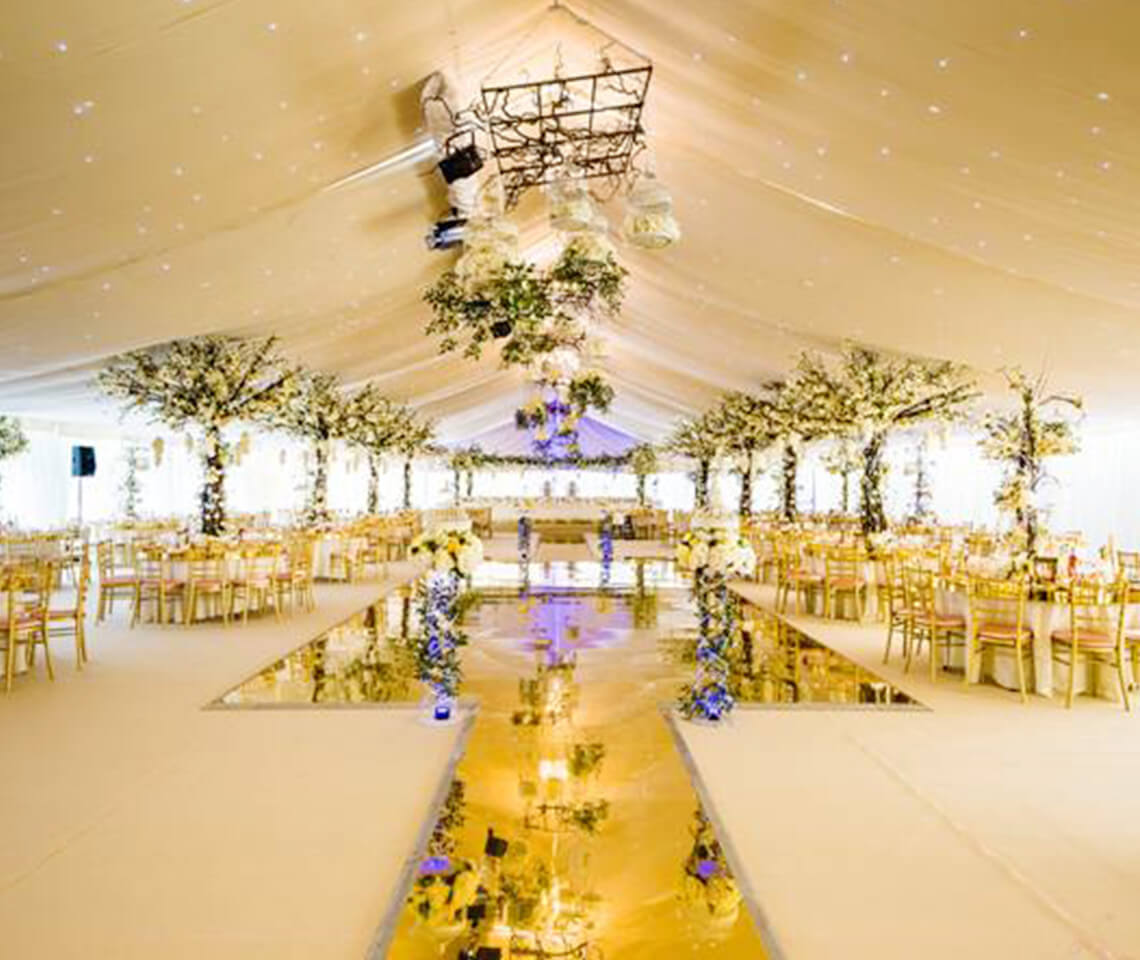 Gold Mirror Dance Floor Furniture4events