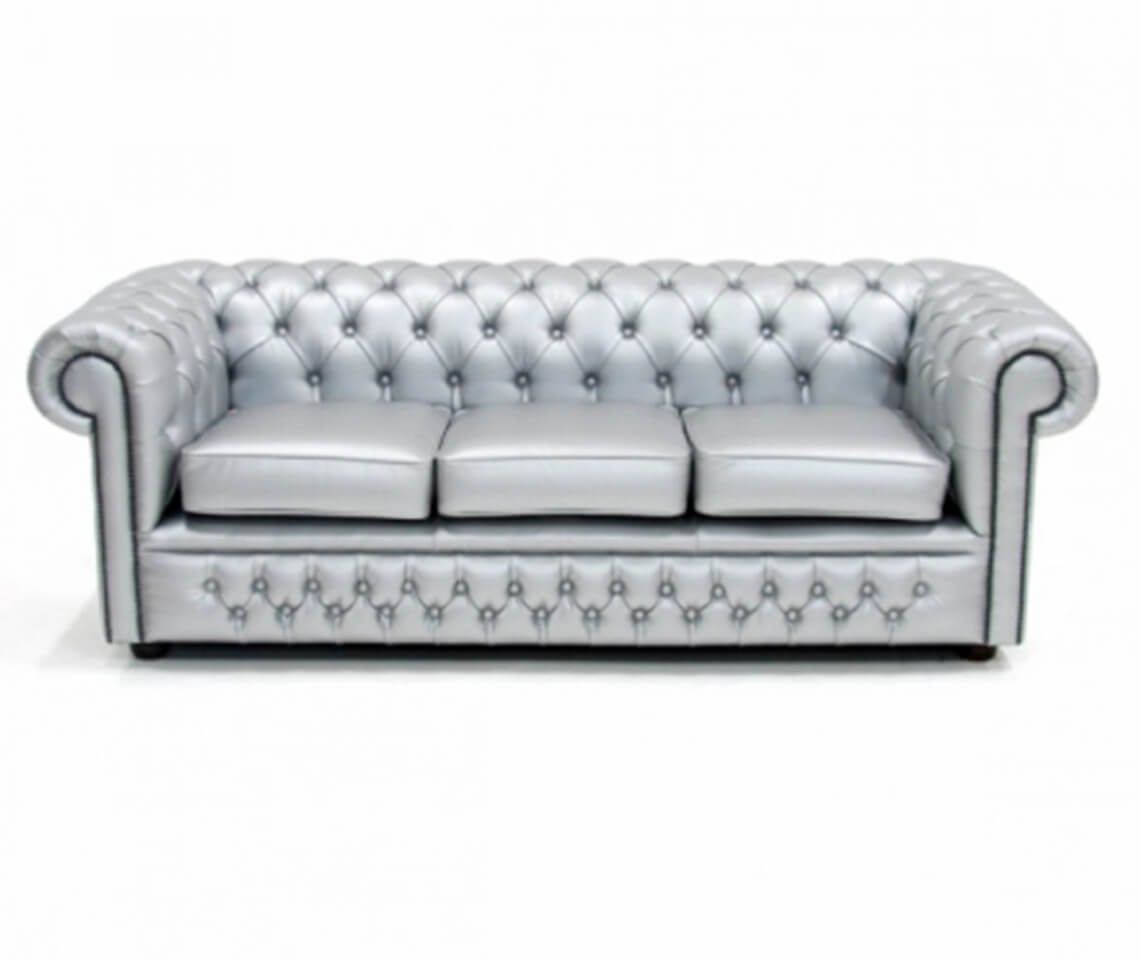 Silver Chesterfield Sofa Furniture4Events