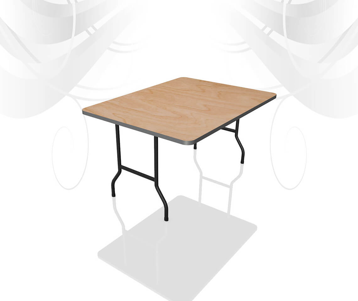 4ft x 2ft 6in trestle table furniture4events for 10ft dining table